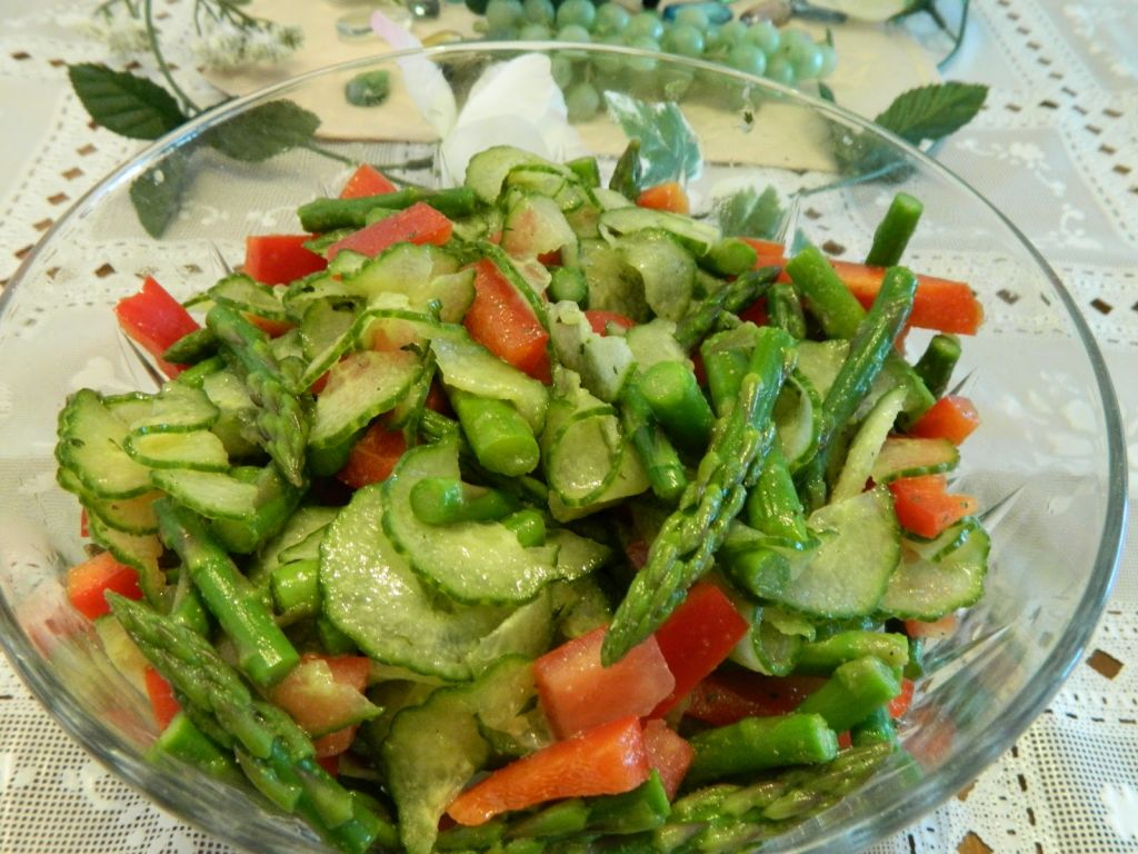 ... Cookbook Cucumber Asparagus Salad - Simply Natural Gourmet Cookbook